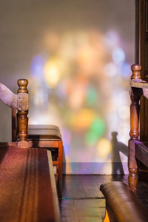 Church, Light, Prayer, Shadow, Faith, Bench, Chairs