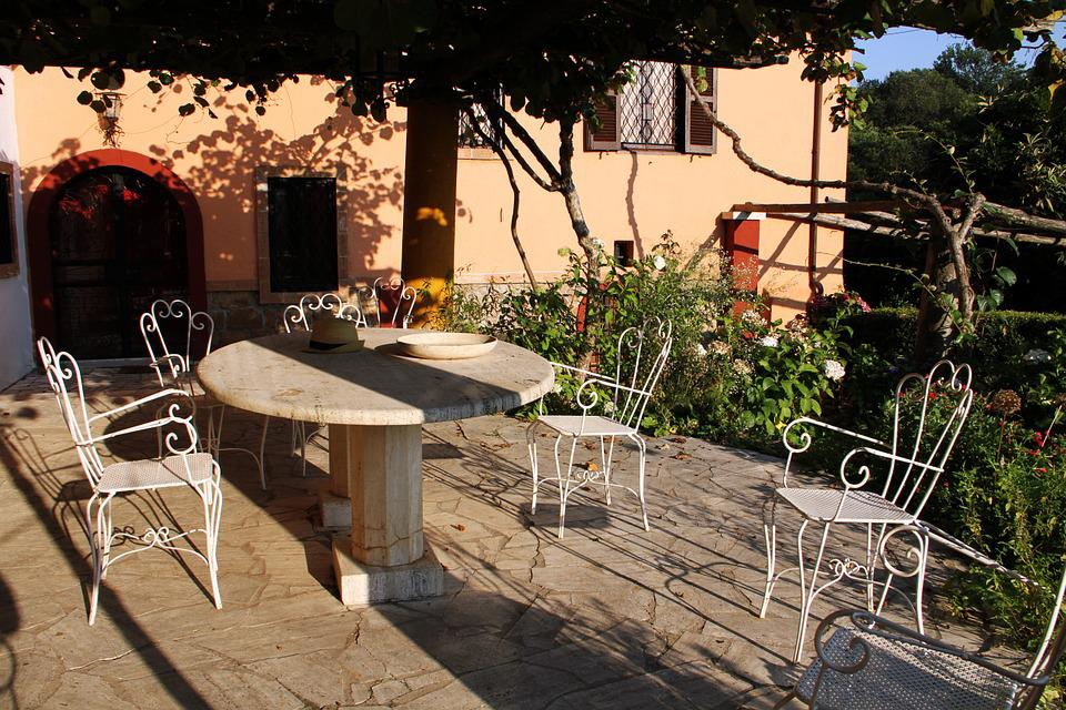 Terrace, Dining Room, Tables, Chairs