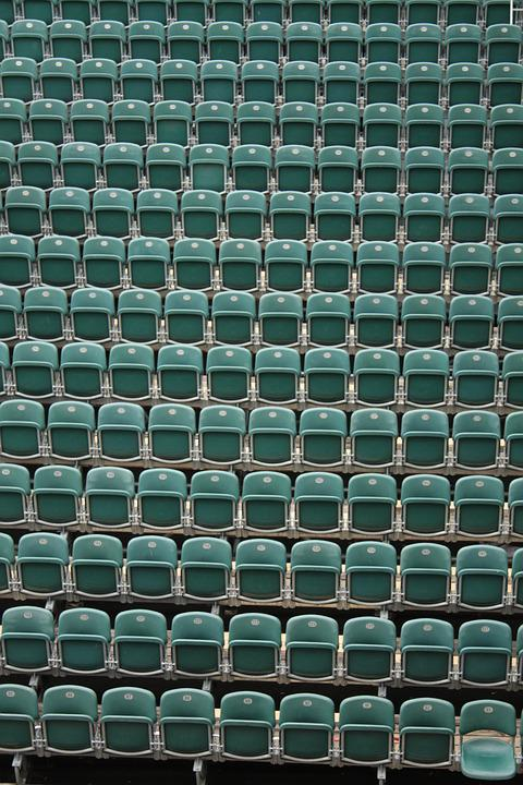 Chairs, Rows Of Seats, Theater, Open Air Theatre, Green