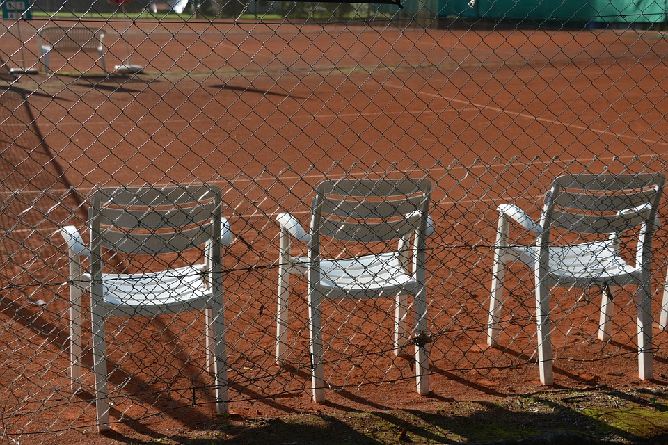 Tennis, Tennis Court, Chairs, Garden Chairs