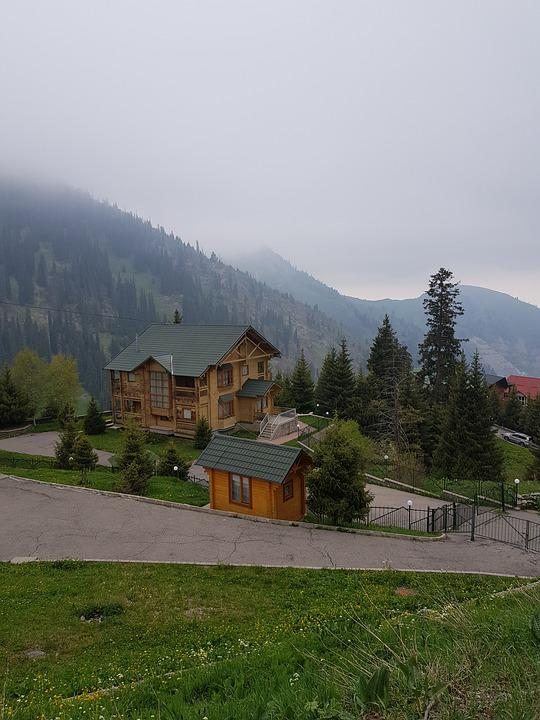 Mountains, Almaty, Tourism, Chalets, Nature, Travel