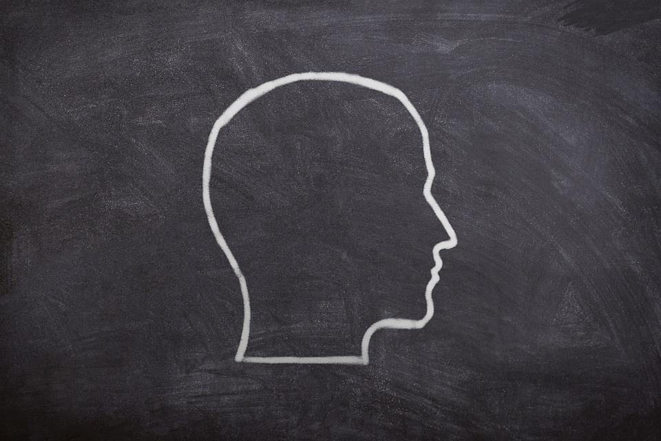 Silhouette, Board, Drawn, Chalk, Human, Head, Man