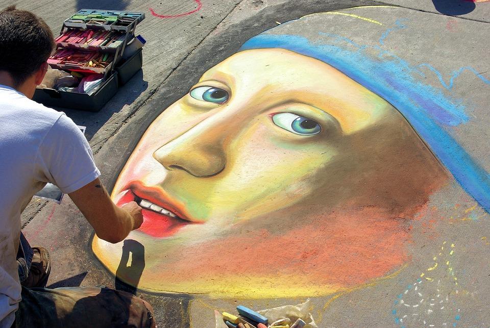 Vermeer Street Drawing, Chalk