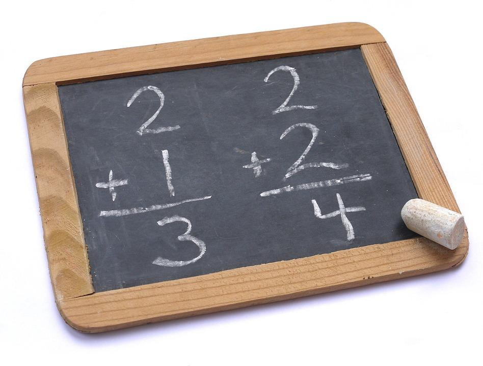 Chalk, Chalkboard, Blackboard, Math, Addition, Slate