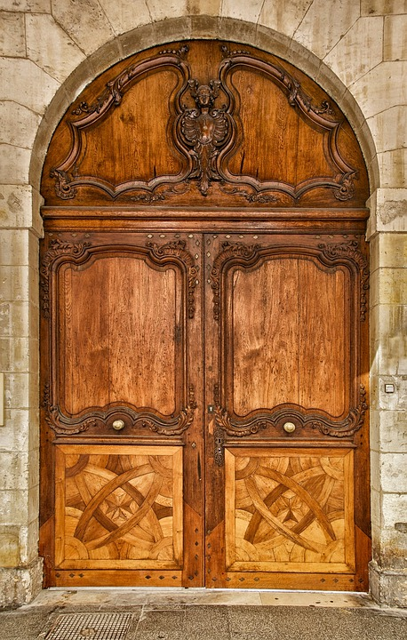 Larochelle, France, Chamber Of Commerce, Building, Door