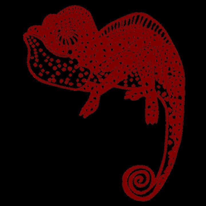 Chameleon, Droll, Polka Dot, Reptile