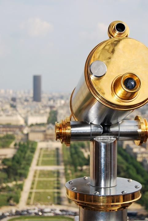 Binoculars, Eiffel Tower, Paris, Champ De Mars, Tourism
