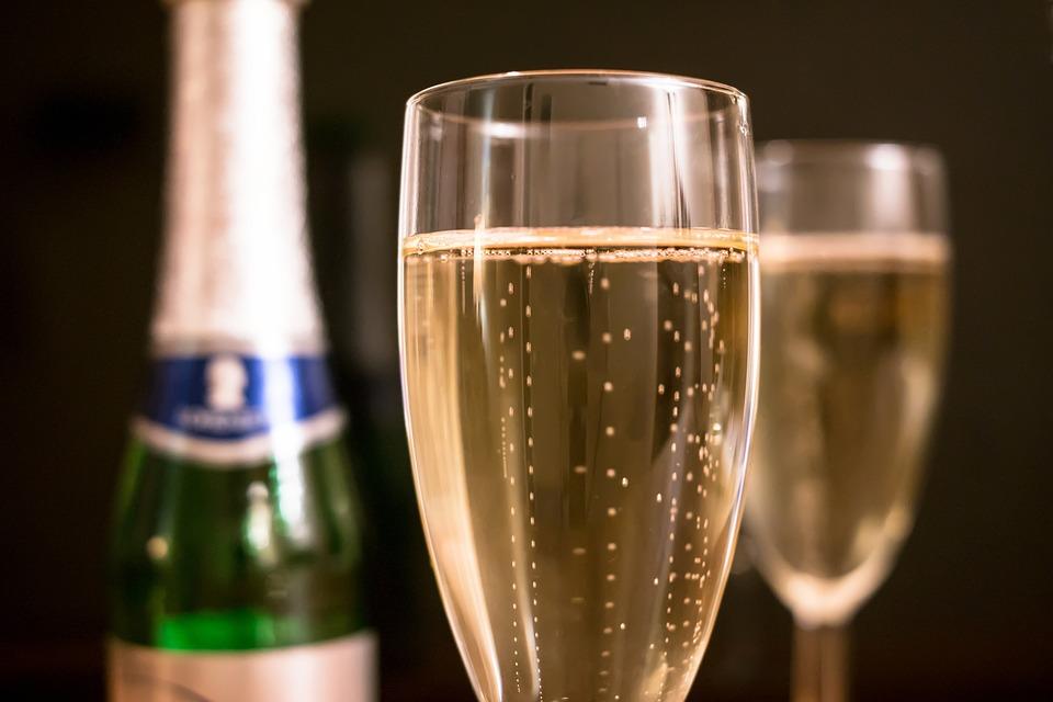 Champagne, Piccolo, Champagne Glass, Glass