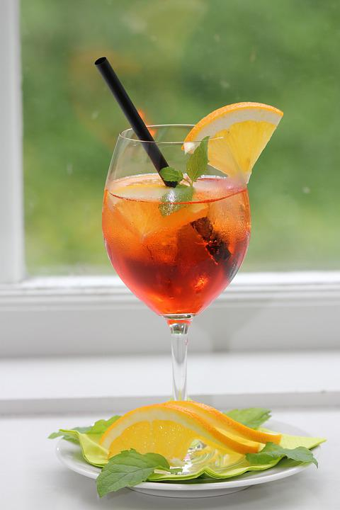 Aperol Spritz, Tingling, Drink, Champagne, Glass