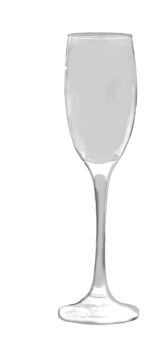 Champagne Glass, Transparent, Isolated, Champagne
