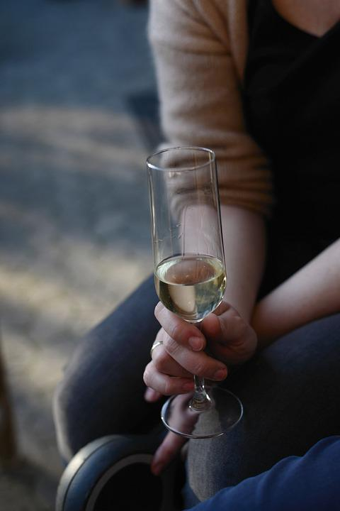 Champagne, Champagne Glass, Hands, Keep, Drink