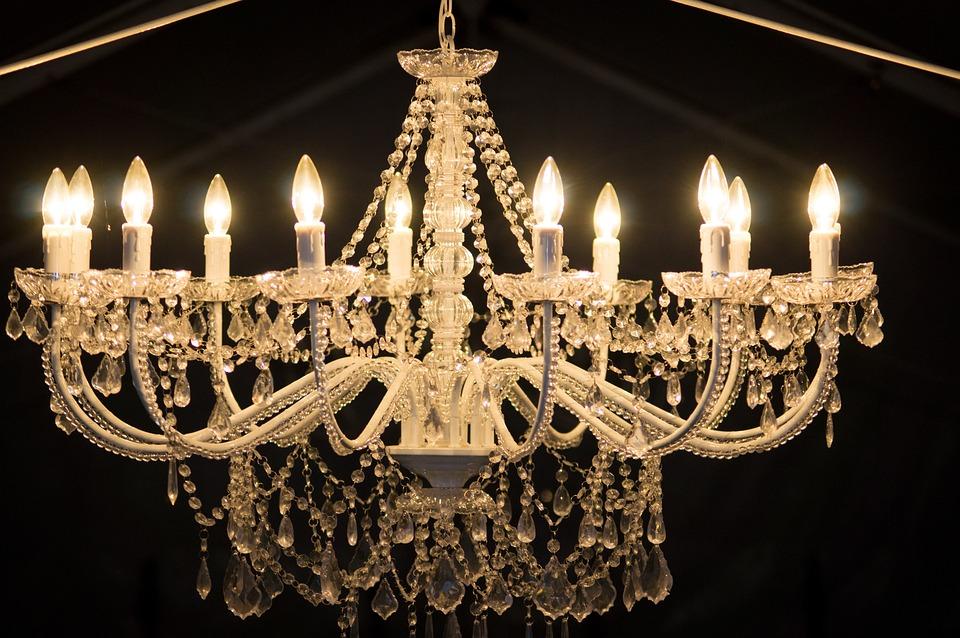 Chandalier, Light, Bulb, Interior, Chandelier, Living