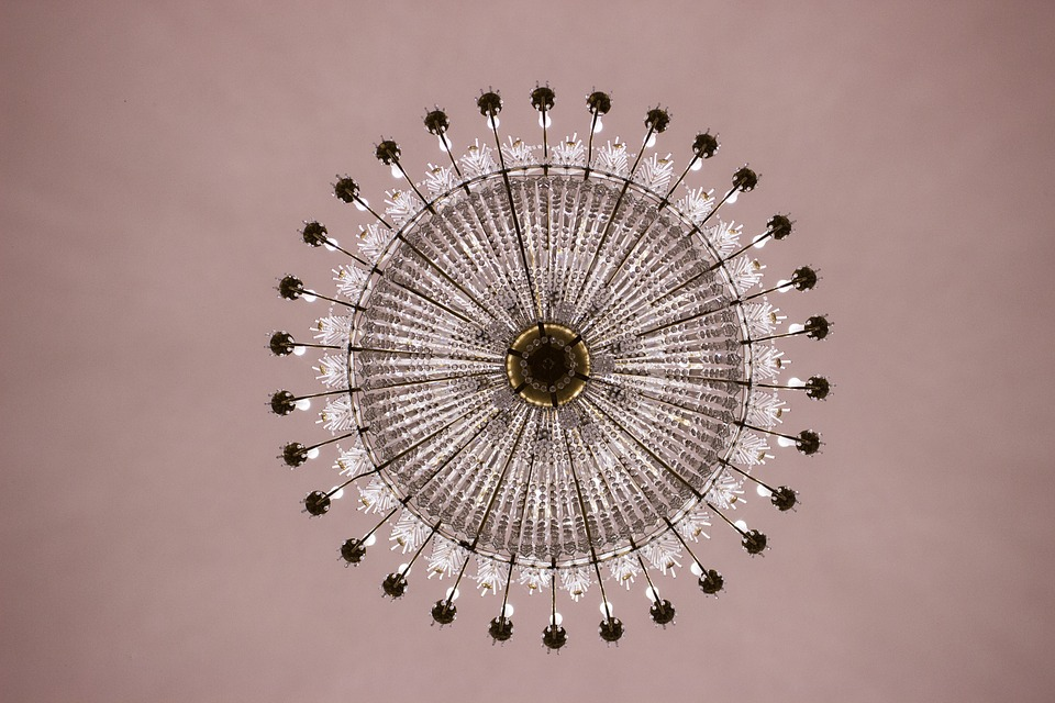 Chandelier, Blanket, Crystal Chandelier