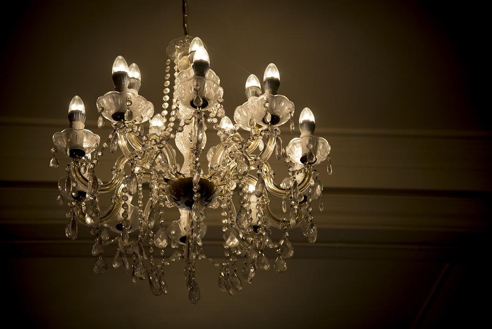 Chandelier, Wedding, Gold, Decoration, Luxury, Shining