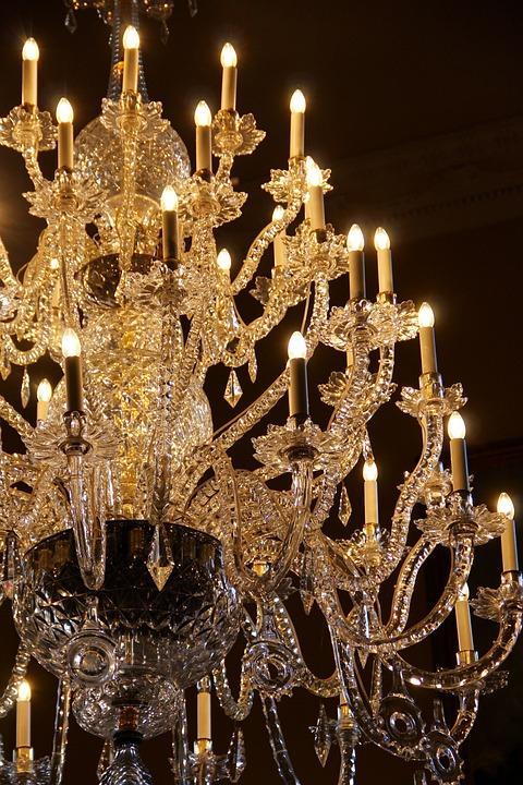 Chandelier, Crystal, Elegance, Luxury, Glass, Ornate