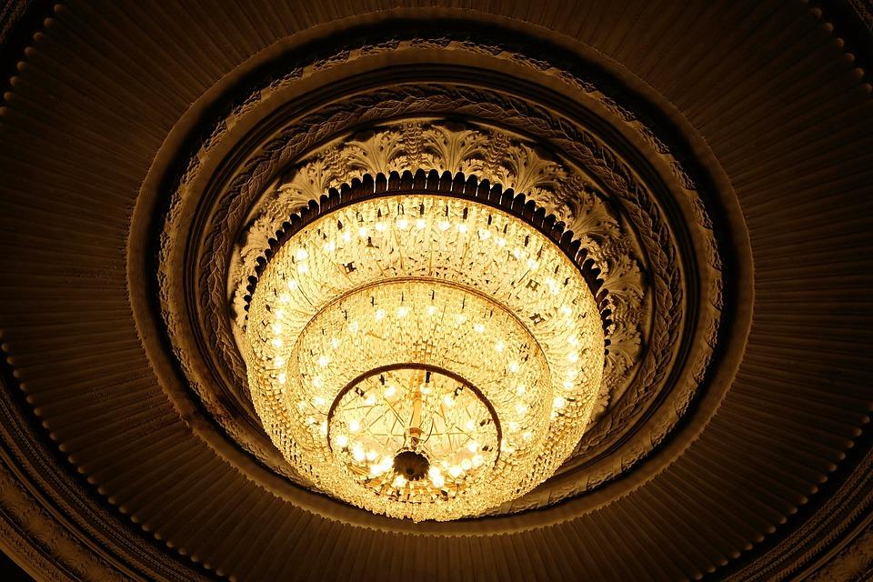 Light, Chandelier, Architecture, Theatre