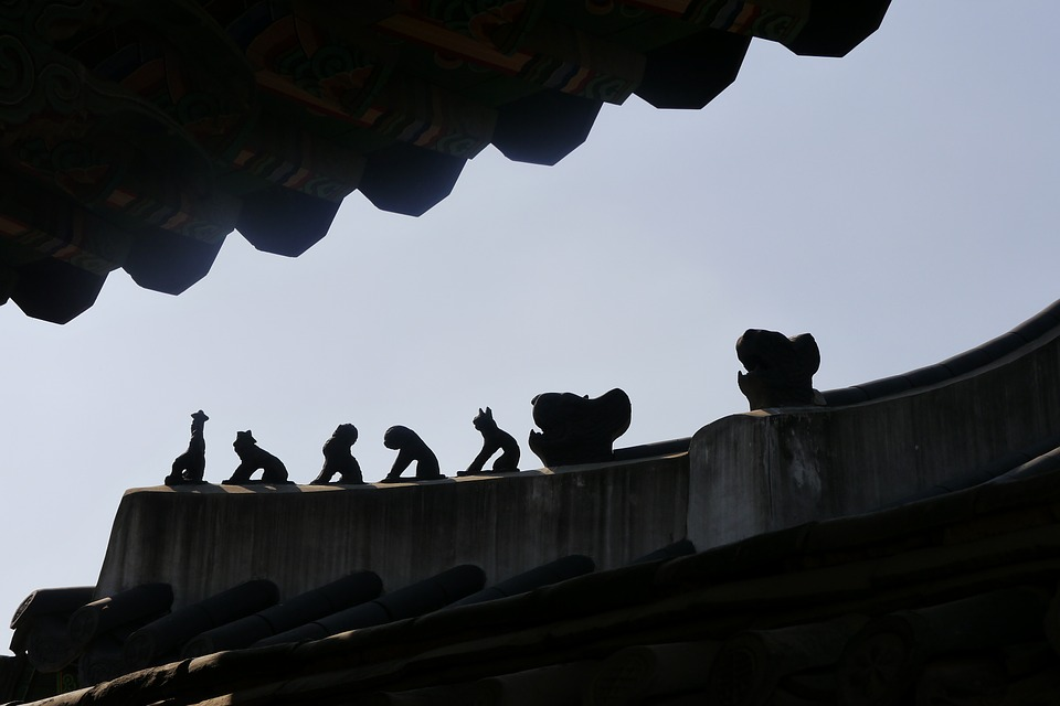 Roof, Changdeokgung, Republic Of Korea