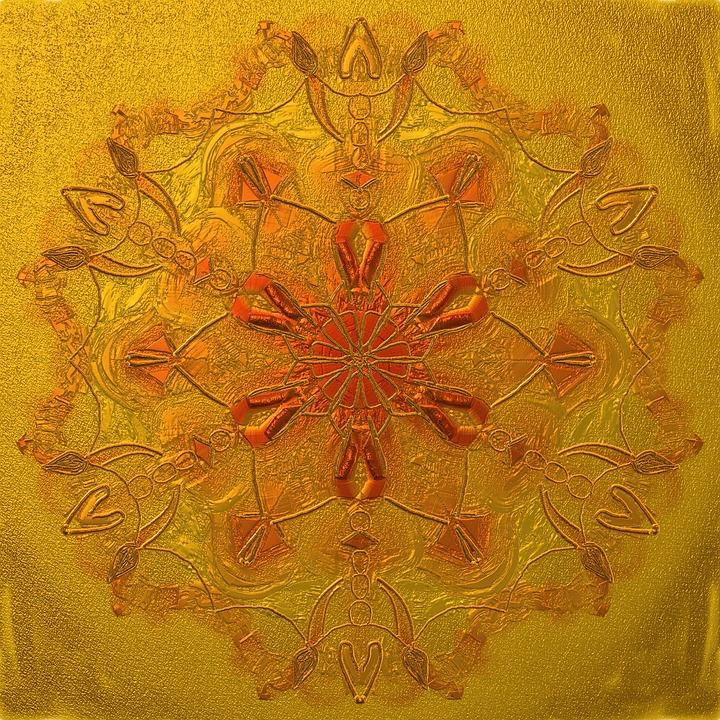 Mandala, Noble, Gold, Change, Middle, Zen, Golden Light