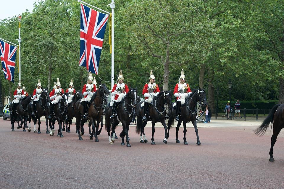 London, Change Of Guards, Buckingham, Palace, England