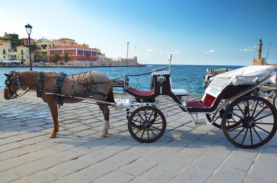 Greece, Chania, Crete, Old, Port