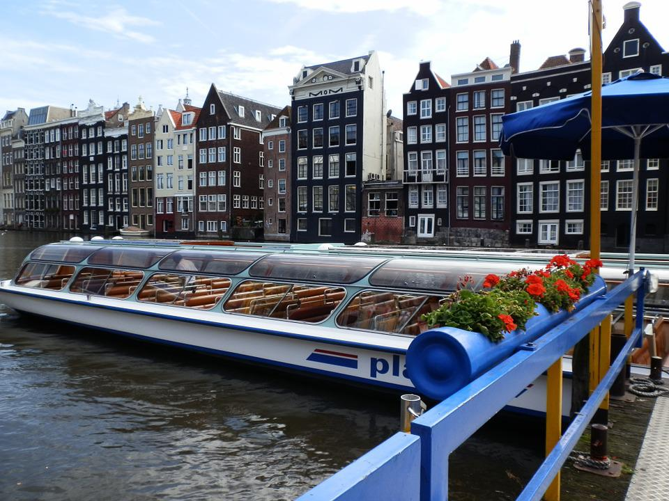 Boat, Channel, Amsterdam