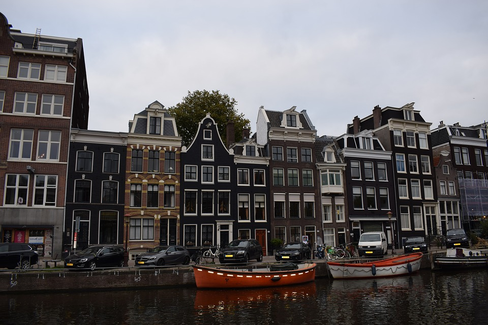 Channel, Boats, Holland, Amsterdam, Channels
