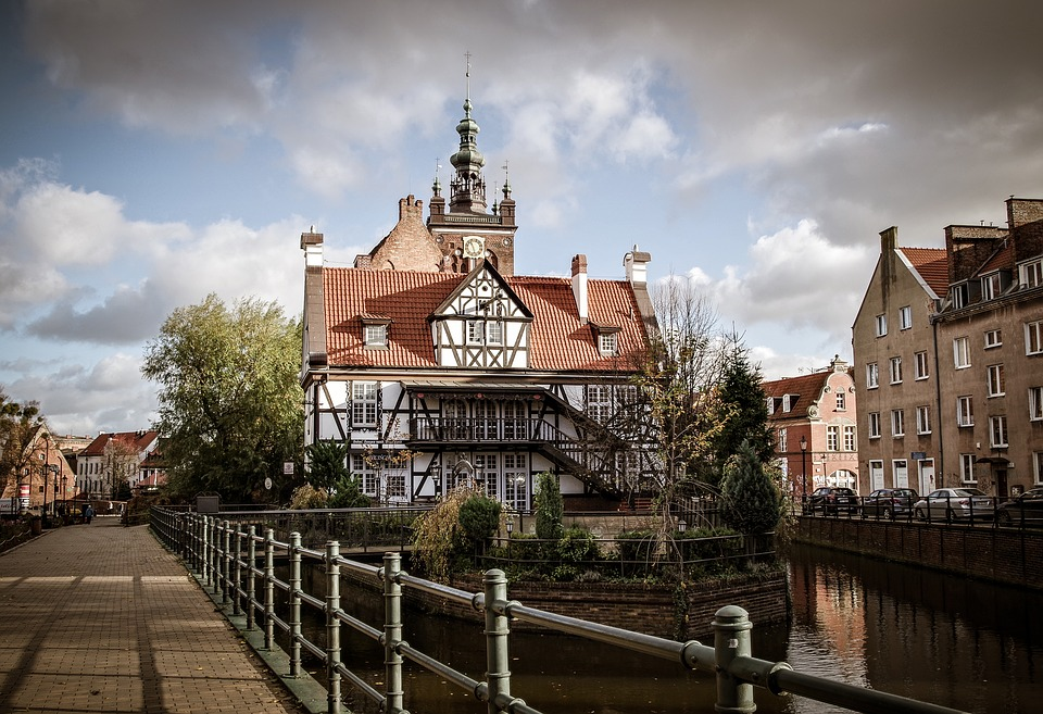 Gdańsk, The Old Town, House Hevelius, Poland, Channel