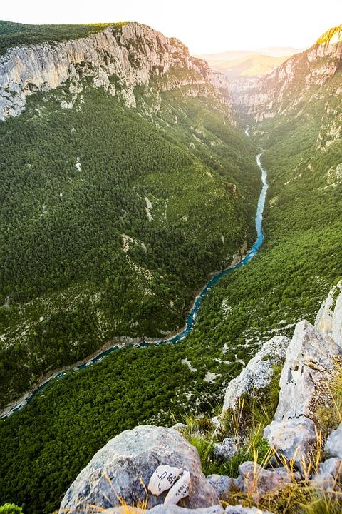 Gorges Du Verdon, France, River, Channel, Landscape