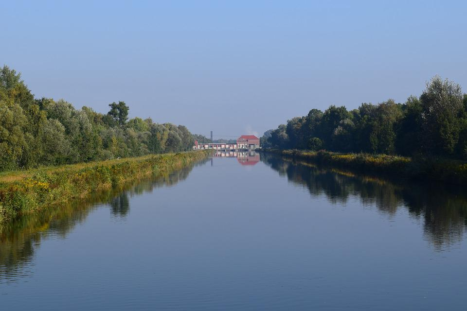 River, Mirroring, Water, Nature, Trees, Channel