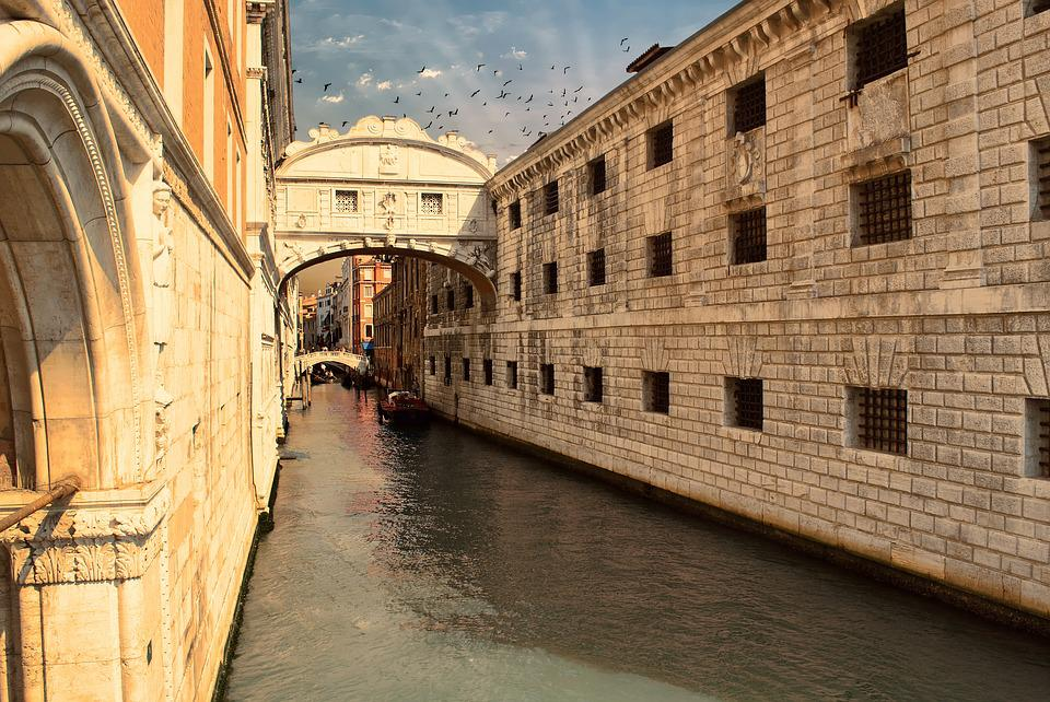 Bridge, Sighs, Venice, Architecture, Channel, Italy