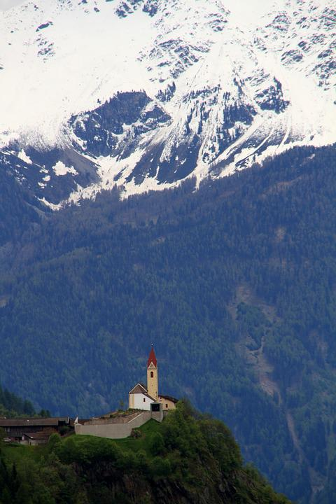 Bergdorf, Church, Dolomites, Chapel