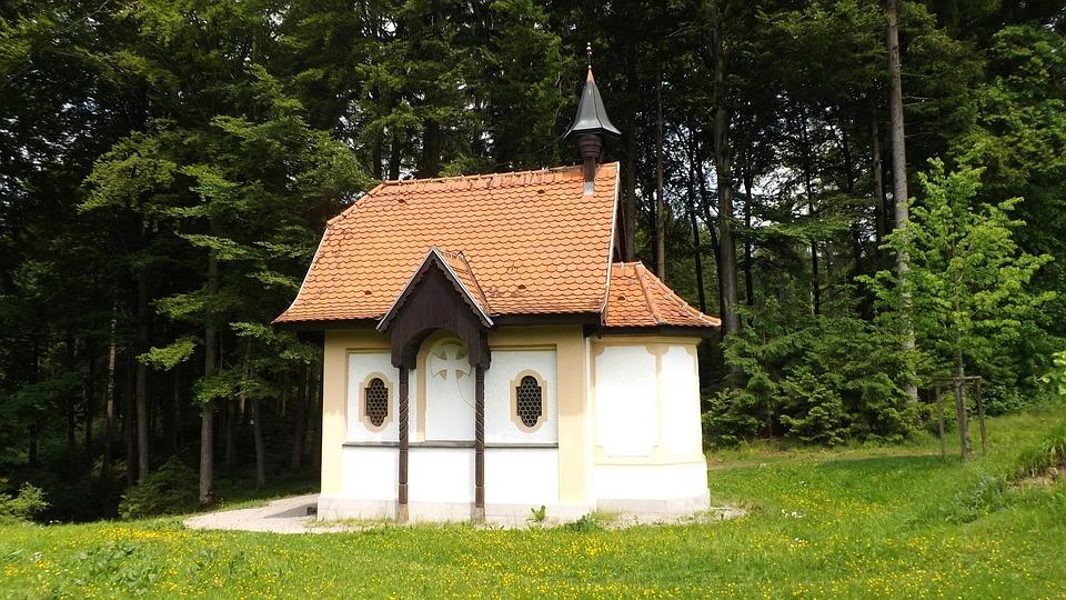 Chapel, Forest, Hubertus Chapel, Oberschönenfeld