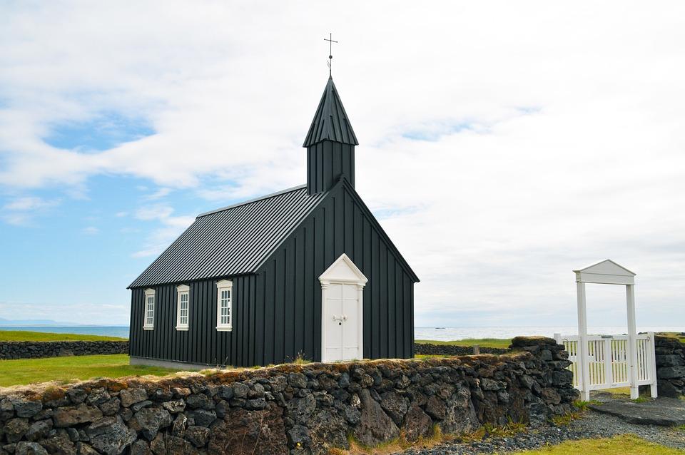 Iceland, Budakirkja, Church, Chapel