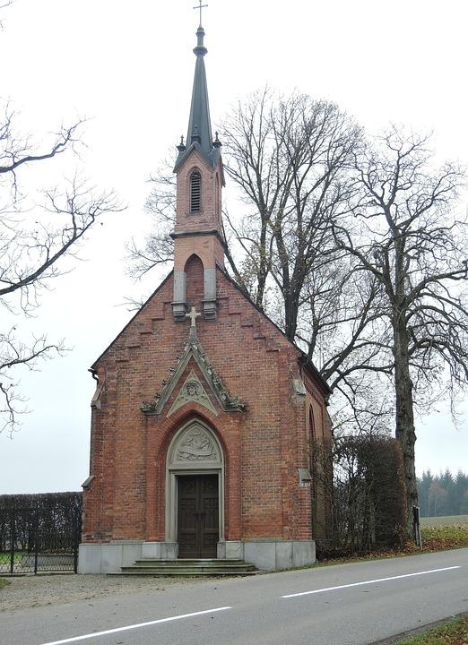 Chapel, Church, Religion, Christian, Autumn, Brick
