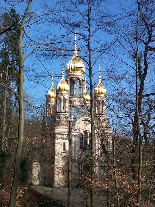 Russian Chapel, Wiesbaden, Gold, Chapel