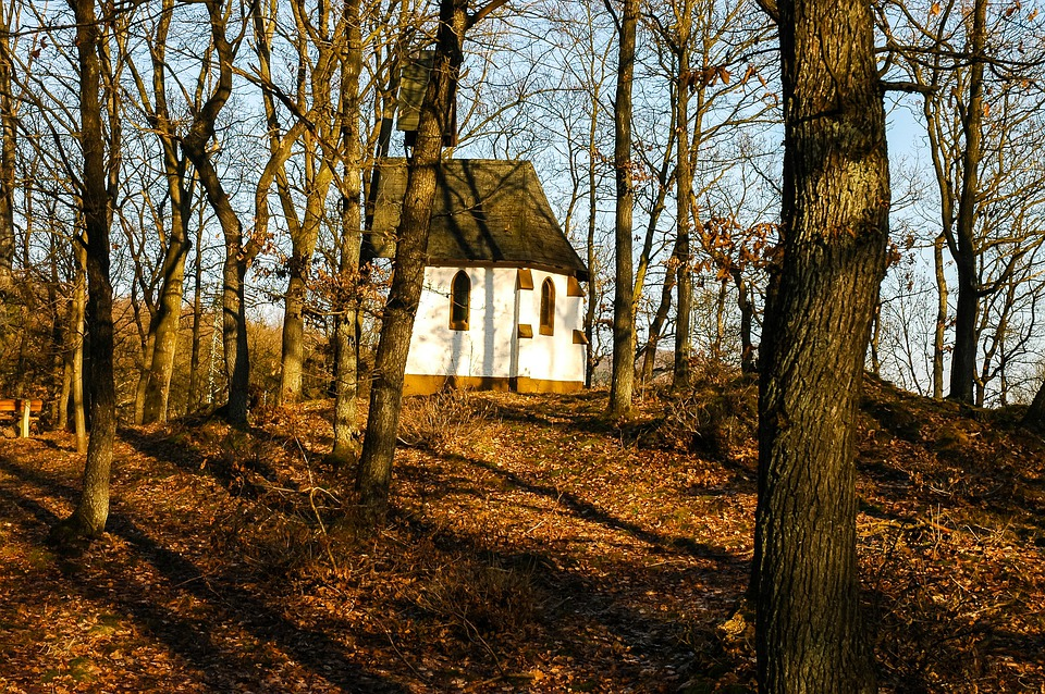 Chapel, Small Church, Autumn Forest