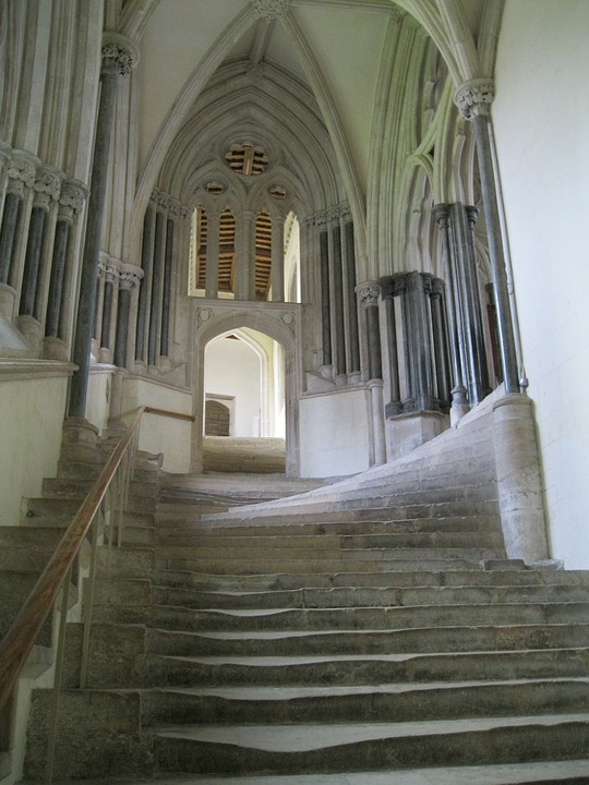 Stairs, Stairway, Chapel, Historic, Architecture