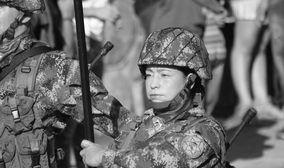 Black And White, Character, Face, Military, People