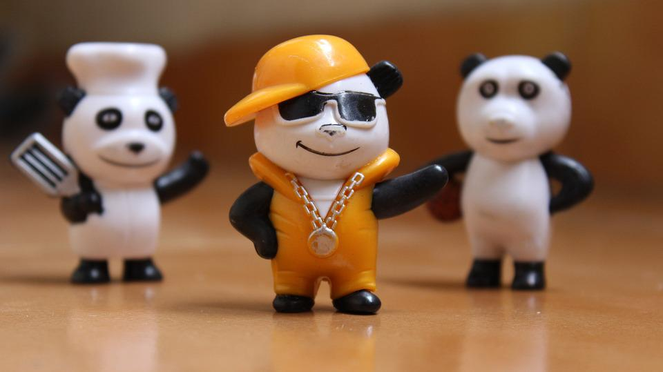 Friendship, Panda, Happy, Character, Cheerful