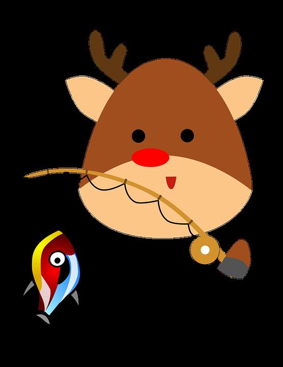 Reindeer, Cartoon, Xmas, Character, Happy, Animal