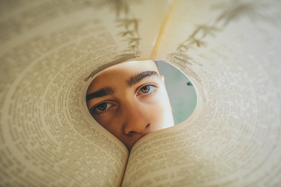 Face, Eyes, Portrait, Skin, Book, Human, Character
