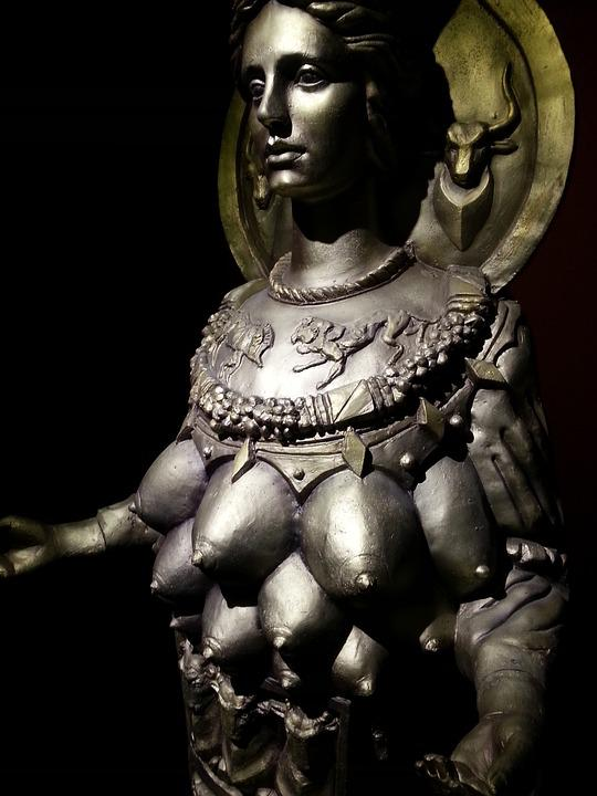 The Goddess Of The, Breasts, Icon, Character, Statue