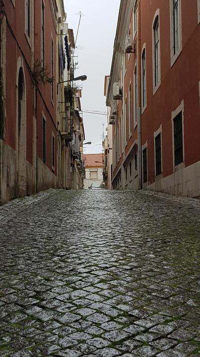 Characteristic, Lisbon, Rose, Street, Area, Hill