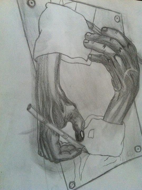 Charcoal Drawing, Pencil Drawing, Drawing, Hands