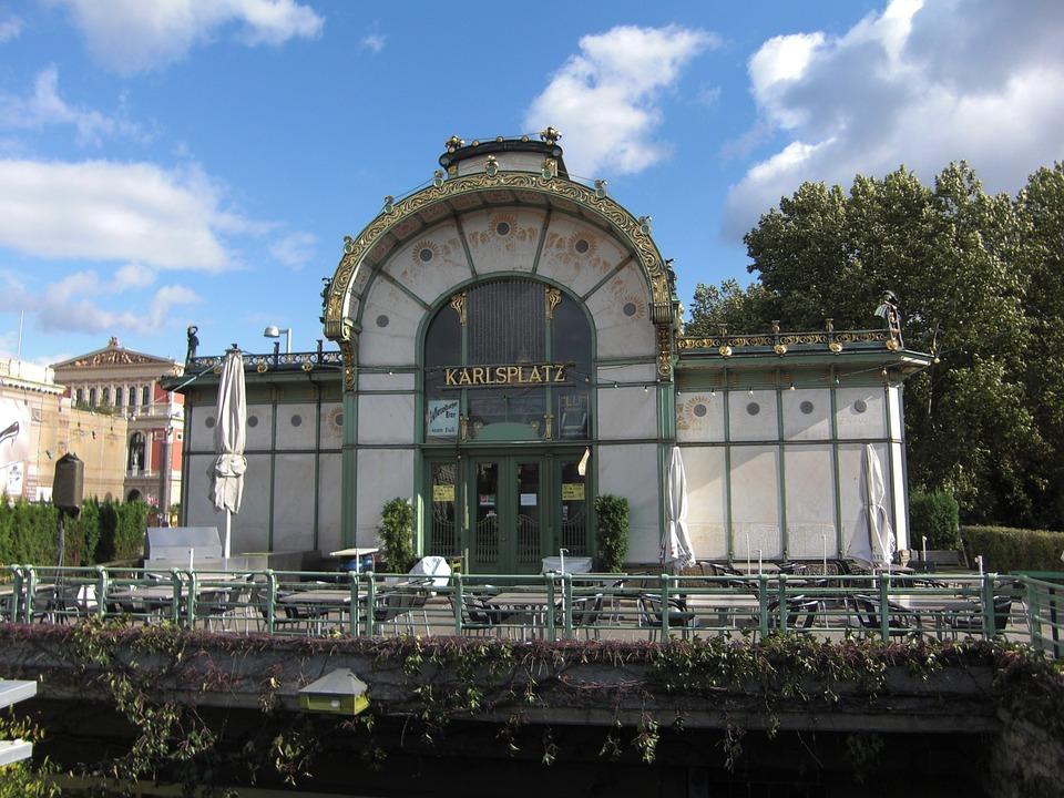Charles Square, Metro, Vienna, Austria