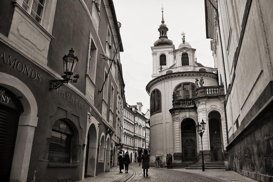 Prague, Street, Charles, Tourists