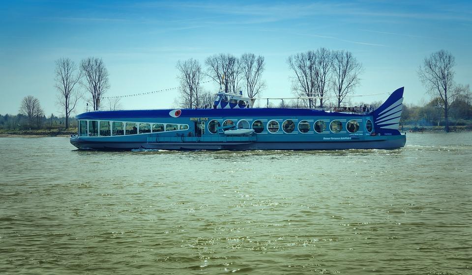 Ship, Moby Dick, Rhine, Shipping, Charter Boat, Bonn