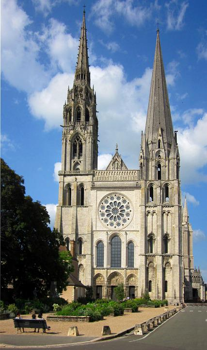 Chartres Cathedral, Medieval, Cathedral, Chartres