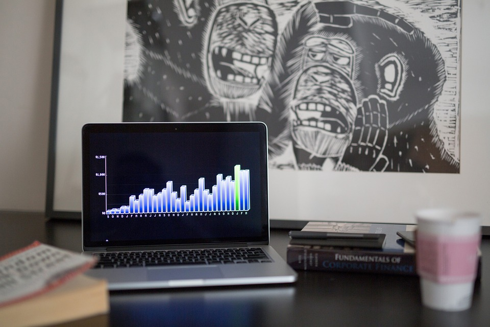Graphs, Charts, Finance, Business, Macbook, Laptop