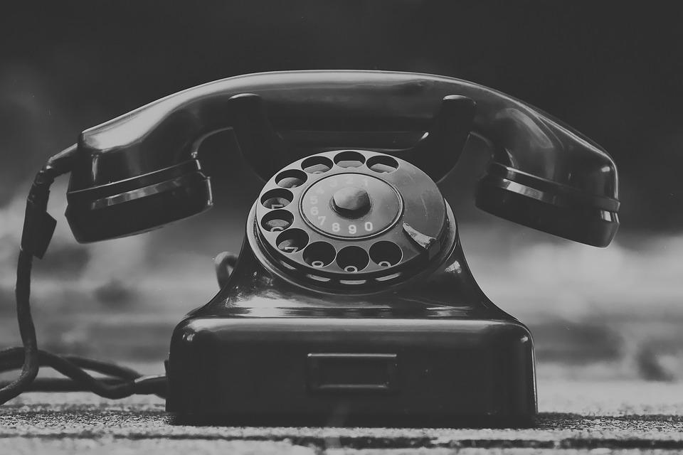 Telephone, Vintage, Monochrome, Phone, Dial, Chat
